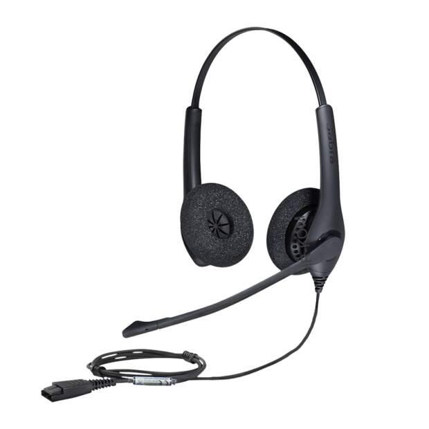 JABRA BIZ 1500 binaural Headset mit Jabra-QD, NC, Wideband bis 4500Hz
