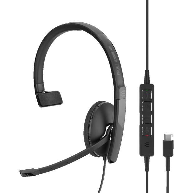 EPOS  ADAPT SC 130 USB-C monaurales (einseitig) USB-C-Headset In-Line Call Control UC-optimiert