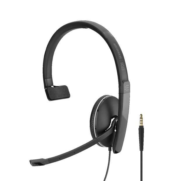 EPOS  ADAPT SC 135 monaurales (einseitig) Headset mit 3,5 mm Klinke für Telefone/Tablets mit 3,5 mm-Anschluss