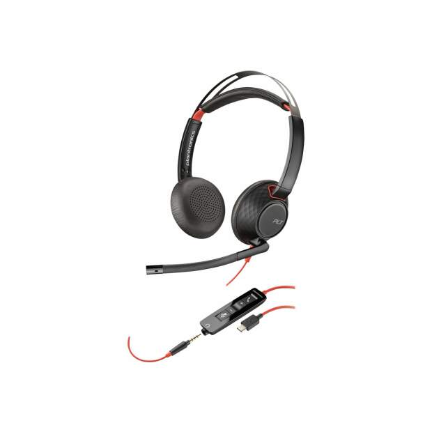 POLY Blackwire 5220 USB-A Stereo Headset inkl. 3,5mm...