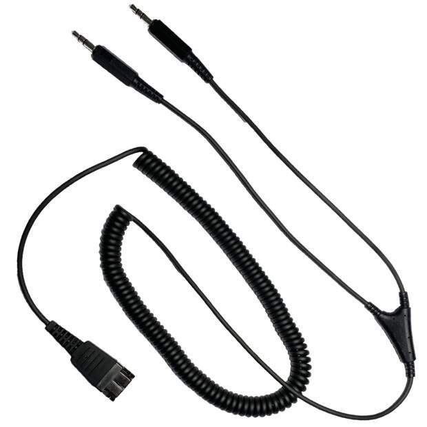 Audio Anschlusskabel f. PC Soundkarte 2 x 3,5mm 3-polig Klinke auf JABRA QD