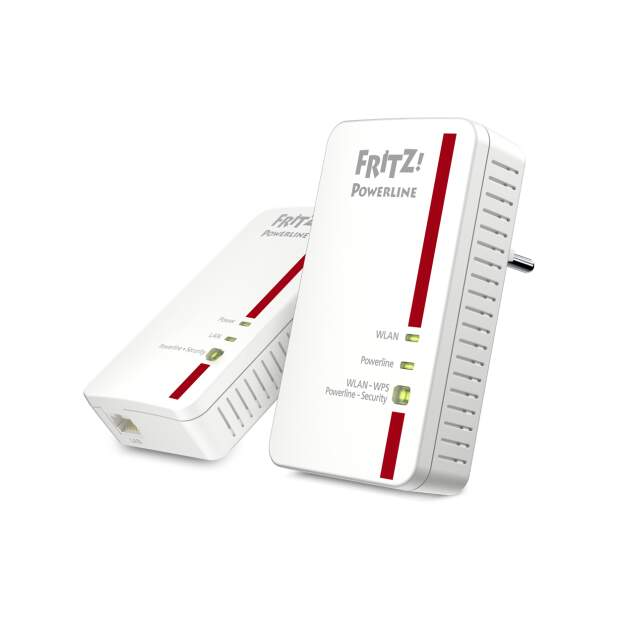 AVM FRITZ!Powerline 1240E WLAN Set - enthaelt 1x 1240E +...
