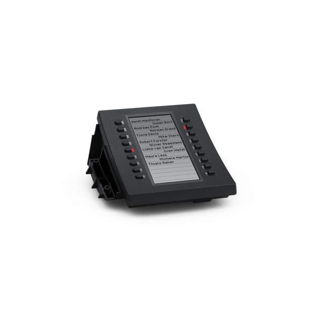 SNOM D3 schwarz Tastenerweiterung für D315/D345/D375 18 konfigurierbare LED Tasten