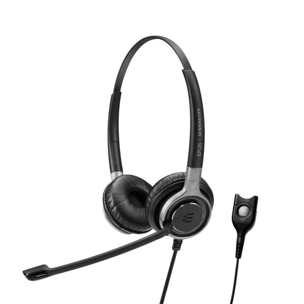 EPOS  IMPACT SC 660 beidseitig kabelgebunden Kopfbügel Headset für Wideband und Narrowband Telefone Easy Disconnect (QD)