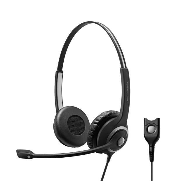 EPOS  IMPACT SC 260 Kopfbügel Headset beidseitig kabelgebunden für Wideband- und Narrowband-Telefone Noise Cancelling QD