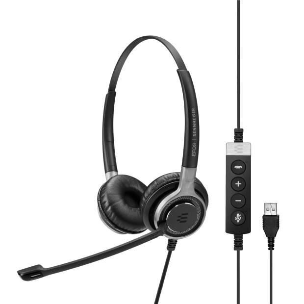 EPOS  IMPACT SC 660 USB ML beidseitiges Premium-Headset mit In-Line Call Control und USB-Anschluss