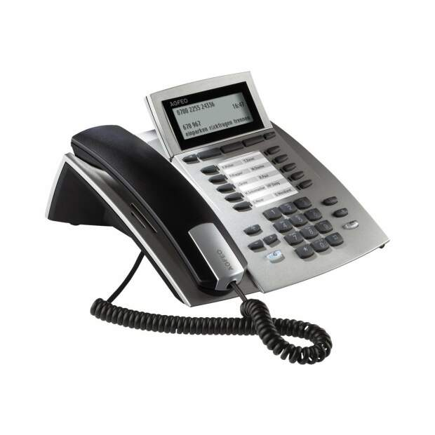 AGFEO Systemtelefon ST42 silber