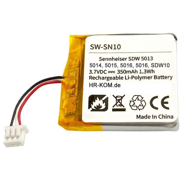 Ersatzakku HR-KOM für EPOS IMPACT SDW 10 HS (SDW 5013 SDW 5014 SDW 5015 SDW 5016)