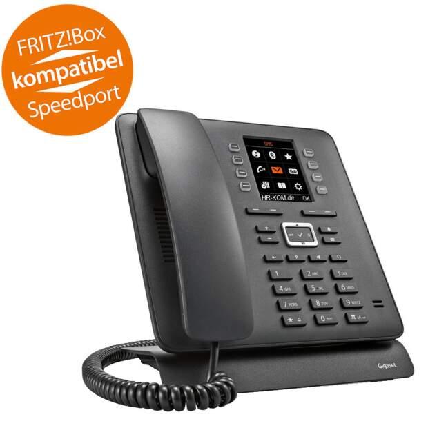 GIGASET T480HX DECT Tischtelefon für DECT GAP Router Headsetanschluss per Bluetooth und  RJ09