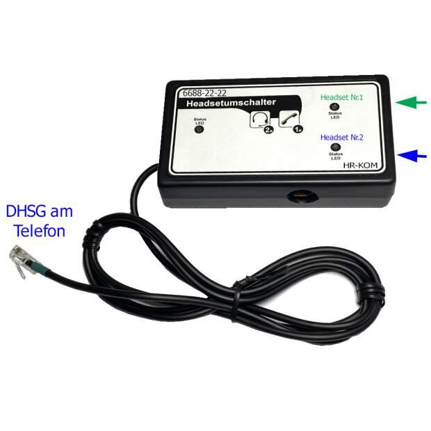 DHSG Umschalter. Zwei Headset an einem Telefon mit DHSG Software parallel benutzen