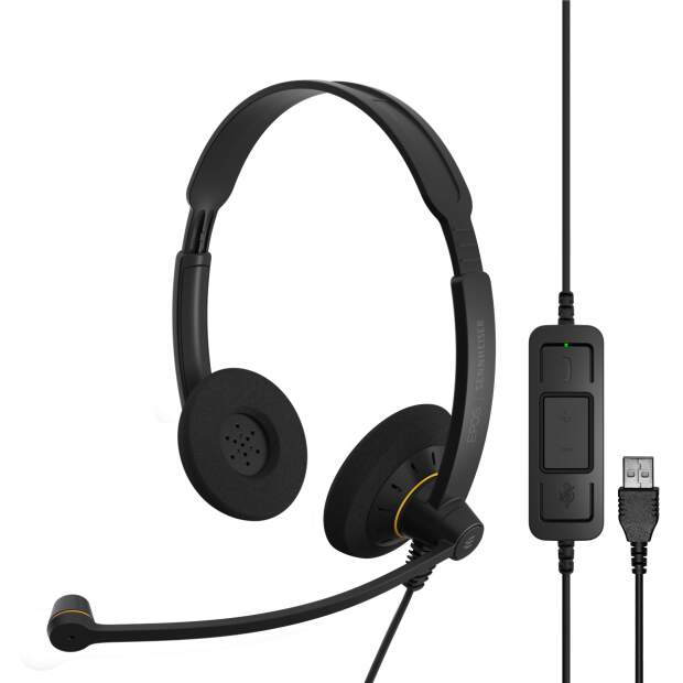 EPOS  IMPACT SC 60 USB ML beidseitiges (Stereo) Headset mit In-Line Call Control zertifiziert für Skype for Business